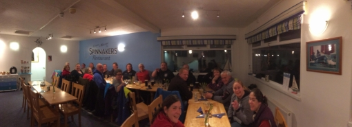Out for dinner with some of the sailing club and RNLI crew